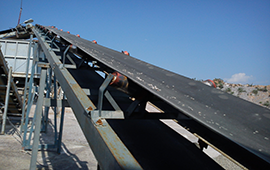 Trough belt conveyors in India