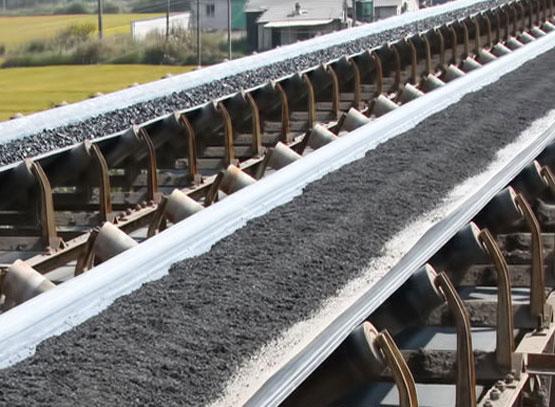 Mines material handling belt conveyor