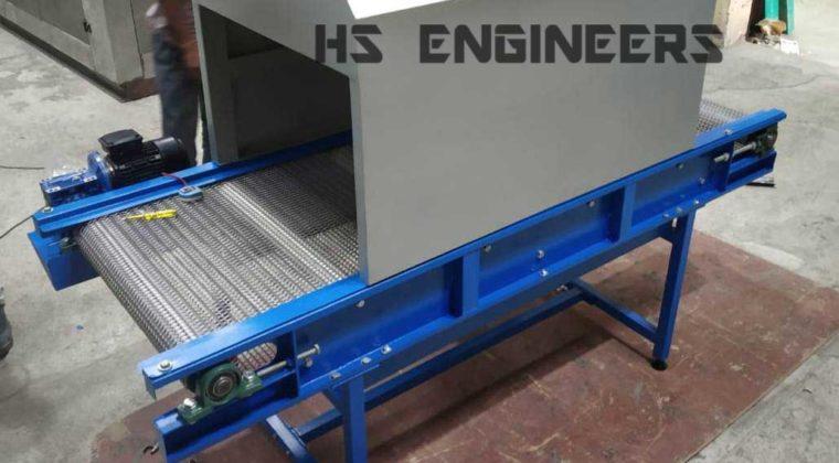 UV Disinfectant wiremesh Conveyor supplied to Mumbai
